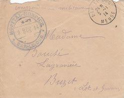 MEUSE ENV RABAT MANQUANT 1914 BAR LE DUC FM HOPITAL HOSPICE BAR LE DUC - Marcofilia (sobres)