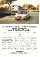 Feuillet De Magazine Mercedes 350 SE 1973, Bus - Cars