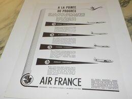 ANCIENNE PUBLICITE A LA POINTE DU PROGRES  AIR FRANCE  1953 - Advertising