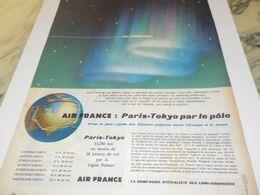 ANCIENNE PUBLICITE VOYAGE AIR FRANCE PARIS-TOKYO 1958 - Advertising