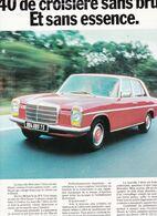 Feuillet De Magazine Mercedes  240 D 3 Litres Diesel 1974 - Cars
