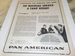 ANCIENNE PUBLICITE SERVICE TARIF REDUIT PAN AMERICAN  1956 - Advertisements
