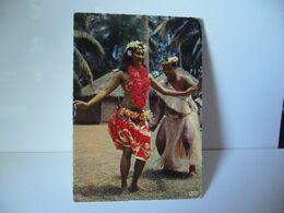 TAHITI OCÉANIE 16 . DANSEURS DE TAMURE CPSM 1967 EDITION PHOTO TAHITI PAPEETE PHOTO MARC LABAYSSE - Tahiti