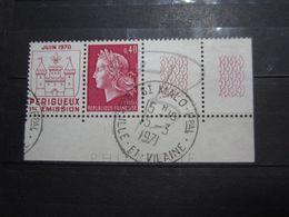 """VEND BEAU TIMBRE DE FRANCE N° 1643 + 2 BDF , OBLITERATION """" ST-MALO """" !!! - 1967-70 Marianne De Cheffer"""