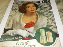 ANCIENNE  PUBLICITE COLD STICK DE PINAUD 1953 - Advertising