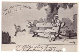 CARTE HUMORISTIQUE ALLEMANDE 1942 - 1914-18