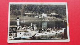 Pension Muller.Niedergrund A.Elbe.Ship/steamer LOSCHWITZ - Tschechische Republik