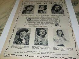 ANCIENNE PUBLICITE LE LIVRE D OR COLLOIDAL 1301 DE THO RADIA 1952 - Advertising