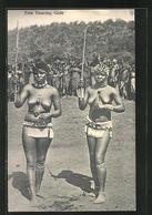 CPA Zulu Dancing Girls, Nackte Afrikanerinnen Avec Peitschen - Afrique Du Nord (Maghreb)