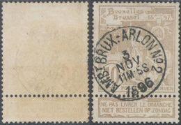 "Expositions - N°72 Obl Ambulant ""Ambt. Brux. - Arlon N°2"" - 1894-1896 Exhibitions"
