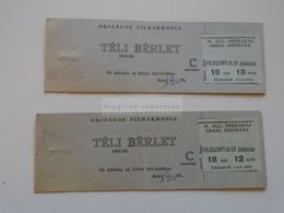 ZA299.9  Hungary   Opéra  Opera  M. Állami Operaház  Erkel Színháza Theatre  Lot Of 2 Ticket Covers  1968/69 Yrs - Eintrittskarten