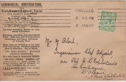 Lettre De Londres Pour Paris, 02.01.1915, Enveloppe Commercial Horticulture - 1902-1951 (Könige)