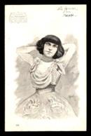 ACTRICE 1900 - POLAIRE - SERIE NOS ARTISTES - DESSIN SIGNE A. BERTIN - PUBLICITE CHICOREE A LA MENAGERE - Entertainers