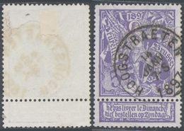 """Expositions - N°71 Obl Simple Cercle """"Hoegstraeten"""" / Défaut Réparé - 1894-1896 Exhibitions"""