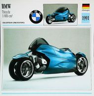 """Motorrad B.M.W. Tricycle 1000cc 1991 "" Moto Allemande 3 Roues - Collection Fiche Technique Edito-Service S.A. - Voitures"