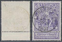 "Expositions - N°71 Obl Simple Cercle ""Londerzeel"" - 1894-1896 Exhibitions"