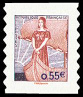 France N° 4287 ** Ou 225 Autoadhésif - Visage De La 5 ème République - Marianne à Nef - France