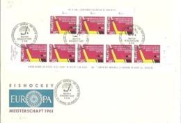 POSTMARKET SUIZA  1961 - Hockey (su Ghiaccio)