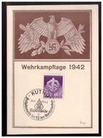 Dt- Reich (008557) Propaganda Gedenkkarte Wehrkampftage 1942, Mit SST Kutno, Freiheitsmarsch Der HJ Des Warthelandes - Ganzsachen