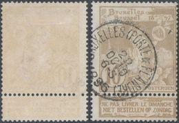 """Expositions - N°72 Obl Simple Cercle """"Bruxelles (Porte De Flandre)"""" - 1894-1896 Exhibitions"""