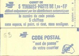 """CARNET 1974-C 1 Sabine DeGandon """"CODE POSTAL"""" Avec R.E. Fermé Bas Prix Parfait état RARE - Carnets"""