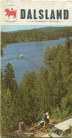 Schweden - Dalsland 1970 - Faltblatt Mit 14 Abbildungen Und Einer Karte - Folletos Turísticos