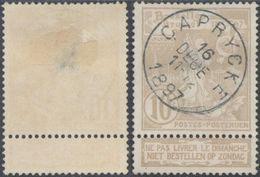 "Expositions - N°72 Obl Simple Cercle ""Caprycke"" / Défaut - 1894-1896 Exhibitions"