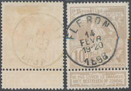 "Expositions - N°72 Obl Simple Cercle ""Fléron"" - 1894-1896 Exhibitions"