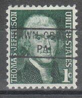 USA Precancel Vorausentwertung Preo, Locals Pennsylvania, Fawn Grove 841 - United States