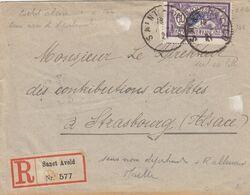 SEUL SUR LETTRE . N° 144 MERSON 60c RECOMMANDE SANCT AVOLD - Postmark Collection (Covers)