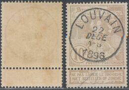 "Expositions - N°72 Obl Simple Cercle ""Louvain"" - 1894-1896 Exhibitions"