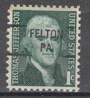 USA Precancel Vorausentwertung Preo, Locals Pennsylvania, Felton 841 - United States