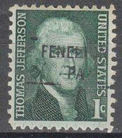 USA Precancel Vorausentwertung Preo, Locals Pennsylvania, Fenelton 841 - United States