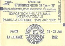 """CARNET 2155-C 1 Sabine De Gandon """"PHILEXFRANCE 82"""" Daté 14/8/81 Fermé Parfait état Bas Prix RARE - Carnets"""