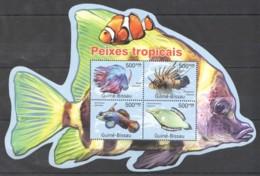 BC656 2011 GUINE GUINEA-BISSAU FISH & MARINE LIFE PEIXES TROPICAIS 1KB MNH - Vita Acquatica