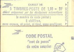 """CARNET 2220-C 1 Liberté De Delacroix """"CODE POSTAL"""", Fermé Bas Prix Parfait état RARE - Carnets"""