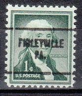 USA Precancel Vorausentwertung Preo, Locals Pennsylvania, Finleyville 704 - United States