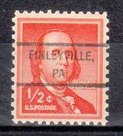 USA Precancel Vorausentwertung Preo, Locals Pennsylvania, Finleyville 807 - United States
