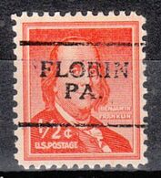 USA Precancel Vorausentwertung Preo, Locals Pennsylvania, Florin 701 - United States