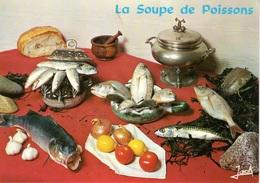 RECETTE DE CUISINE, LA SOUPE DE POISSONS, BRETAGNE, CARTE VIERGE - Recetas De Cocina