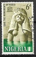 NIGERIA     -   UNESCO -   Sauvegarde Des Monuments De Nubie.   Oblitéré - Nigeria (1961-...)