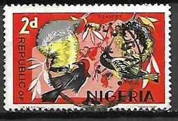 NIGERIA     -   Oiseaux  /  Weavers  -   Oblitéré - Nigeria (1961-...)