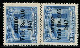 VZ0409 Venezuela 1947 Building Stamped 2V Engraving Version - Venezuela