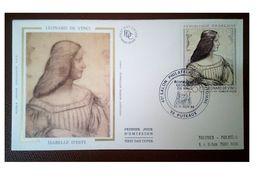 France 1986 1er Jour N° 2446 Léonard De Vinci Visage Puteaux - 1980-1989