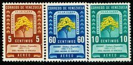 VZ0414 Venezuela 1950 Fruit Tree Yellow Flower Wind Suzuki 3V MLH - Venezuela