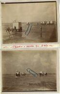2 Zeer Oude  Foto's : Oostende - Blankenberge - De Haan - Middelkerke - KUST (  12 X 9 Cm  Zijn Opgeplakt Op Papier ) - Lugares