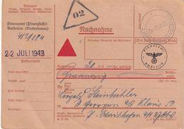 ALLEMAGNE 1943 CARTE EN FRANCHISE EN CONTRE REMBOURSEMENT/NACHNAHME - Deutschland