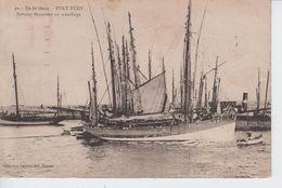 MORBIHAN  - 40 - Ile De Groix - PORT TUDY - Bateaux Thonniers Au Mouillage  ( - Timbre à Date De 1931 ) - Francia