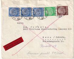 ALLEMAGNE 1937 LETTRE EXPRES DE BERLIN POUR BERN - Deutschland