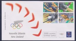 New Zealand FDC 2000 Sydney Olympic Games  (NB**LAR9-168) - Verano 2000: Sydney